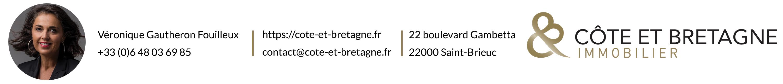 Véronique GAUTHERON - Côte et Bretagne Immobilier - Votre agence FNAIM bord de mer, Saint-Brieuc, Plérin, Côtes d'Armor, Prestige, Luxe
